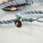 Blue Beaded Abalone Shell Necklace 3