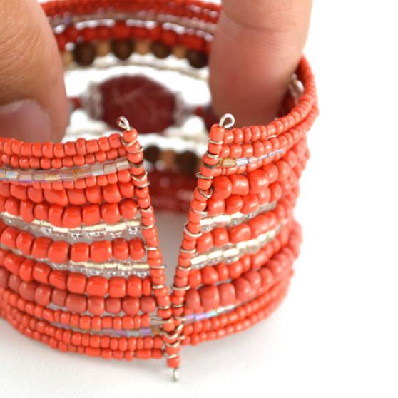 Red Beaded Bracelet 3
