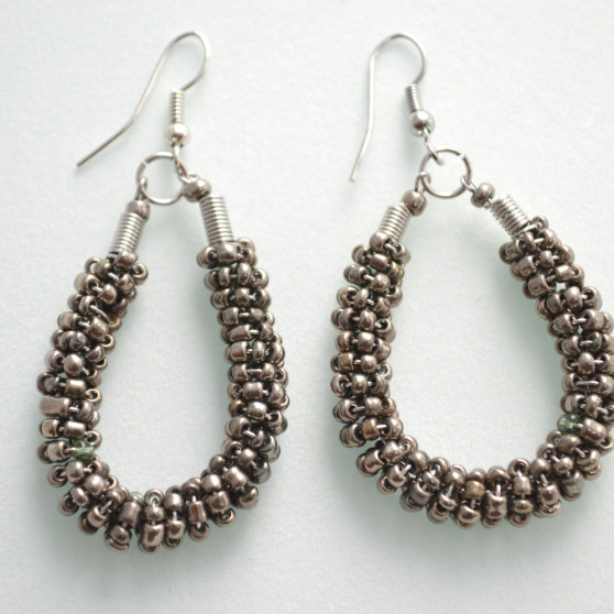 Metal Beaded Earrings