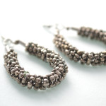 Metal Beaded Earrings 3