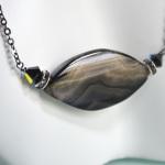 Black Oval Stone Necklace 2