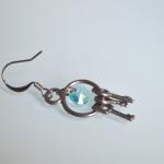 Blue Swarovski Crystal Keys Earrings 2
