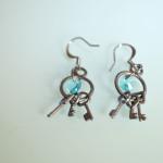 Blue Swarovski Crystal Keys Earrings 3