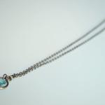 Blue swarovski Crystal Keys Necklace 3