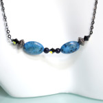 Blue Speckled Stone Necklace 2