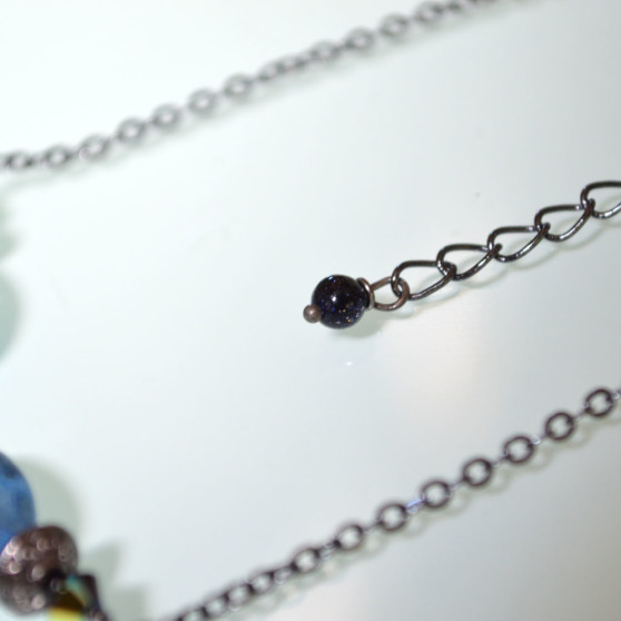 Blue Speckled Stone Necklace 3