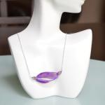 Purple Oval Stone Necklace