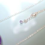 Purple Oval Stone Necklace 3