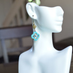 Turquoise Clover Earrings