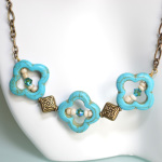 Turquoise Clover Necklace 2