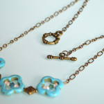 Turquoise Clover Necklace 3